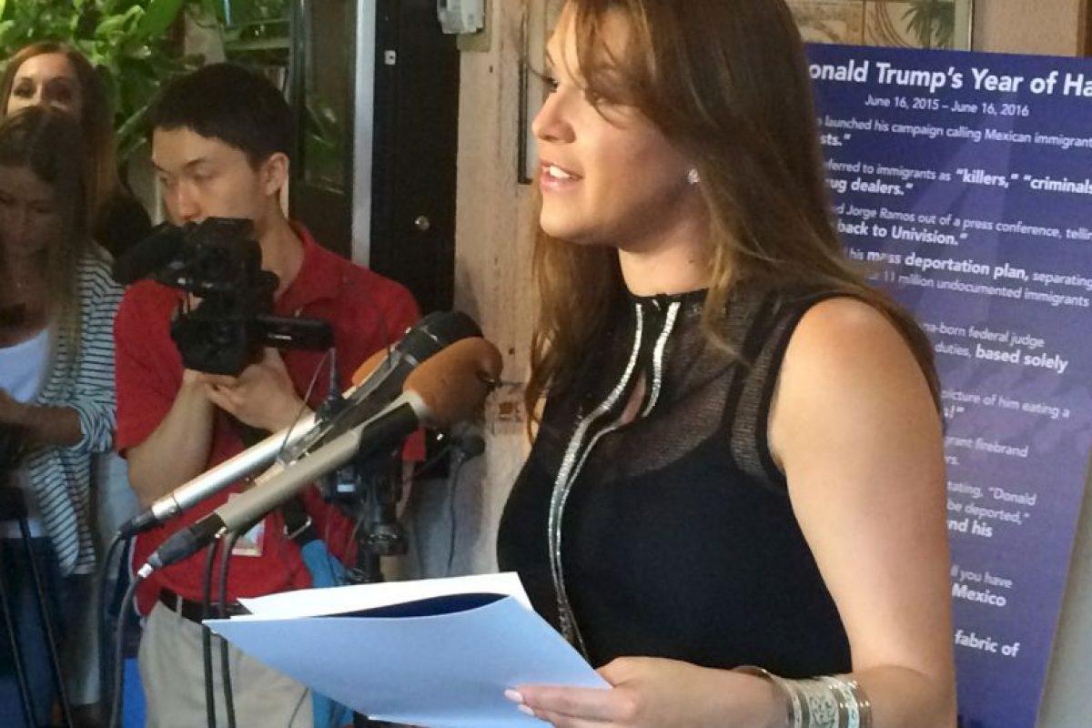 Ella fue humillada por Donald Trump quien la expuso haciendo ejercicio para bajar de peso, frente a reporteros y medios de comunicación Foto:AP. Imagen Por: