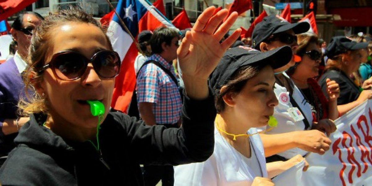 Marcha y paro nacional: empleados públicos se manifiestan este jueves contra reajuste salarial
