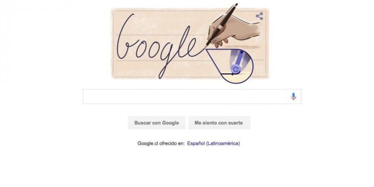 Con este doodle animado Google rinde tributo al creador del bolígrafo