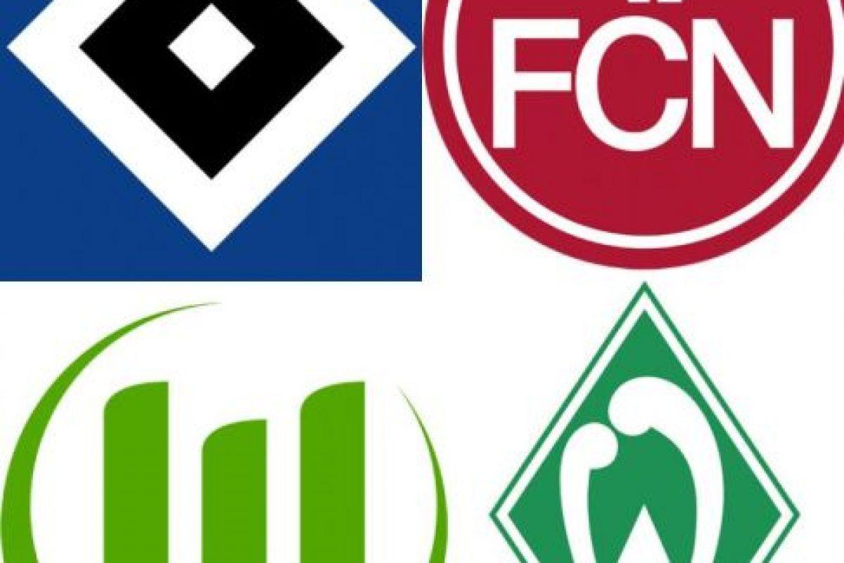 6, 7, 8 y 9.-Werder Bremen, Nuremberg, Wolfsburg y Hamburgo (Alemania) Foto:Reproducción. Imagen Por: