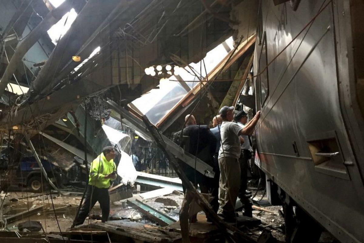 Así quedó la estación Hoboken, en Nueva Jersey Foto:Getty Images. Imagen Por: