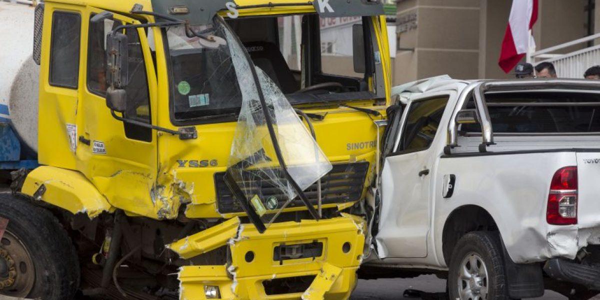 Choque múltiple en Antofagasta deja 14 personas lesionadas