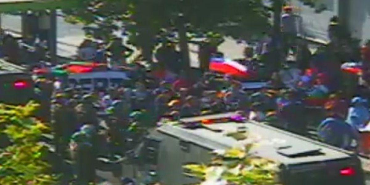 Manifestación de pobladores genera congestión en La Alameda