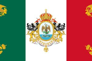 La bandera del Segundo Imperio Mexicano.. Imagen Por: