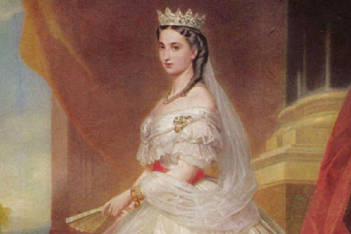 La emperatiz Carlota de México, princesa belga.. Imagen Por: