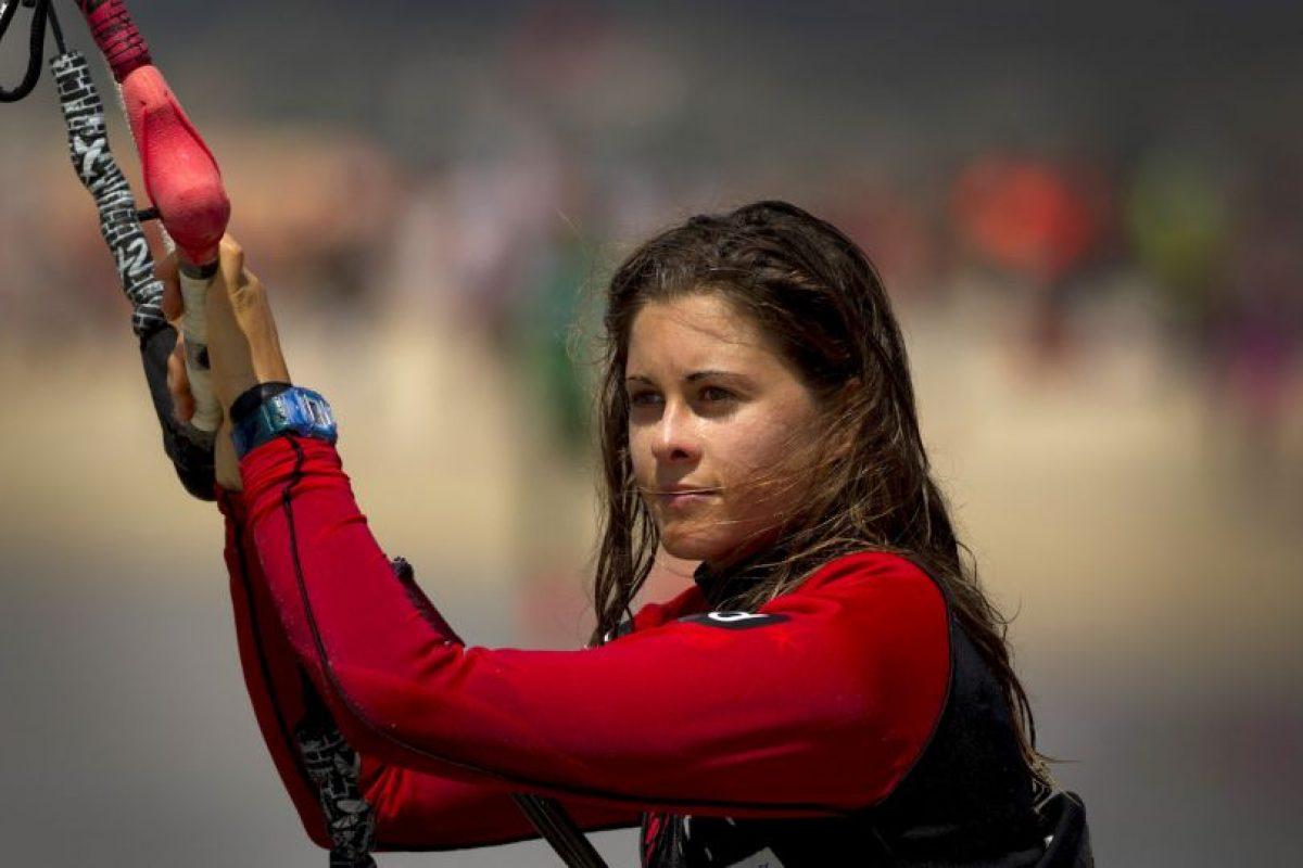 Gisela Pulido conquistó su primer título mundial de kitesurf a los 10 años Foto:Getty Images. Imagen Por: