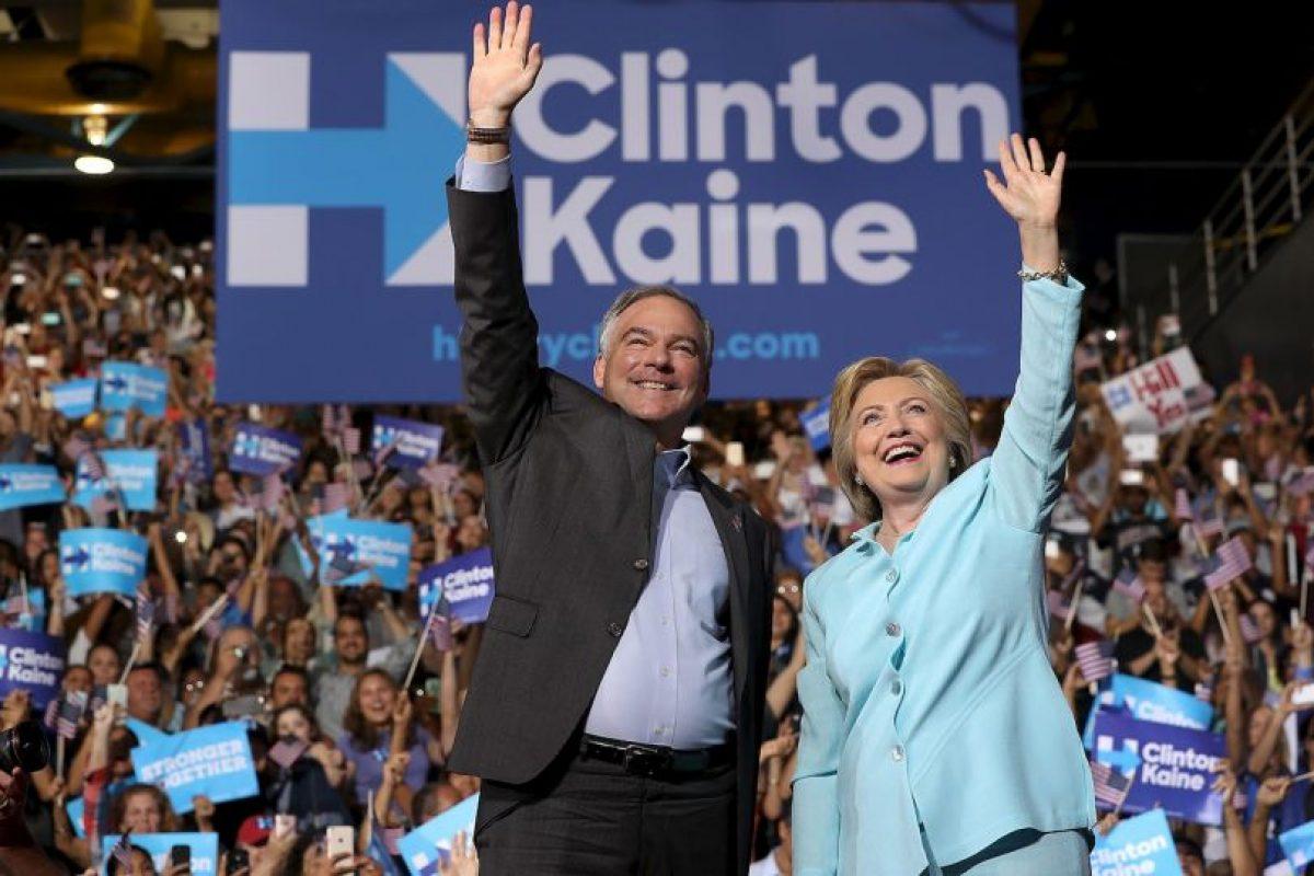 Es el compañero de fórmula de Hillary Clinton Foto:Getty Images. Imagen Por: