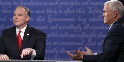 Candidatos a vicepresidentes de Clinton y Trump se enfrentaron con constantes interrupciones en debate