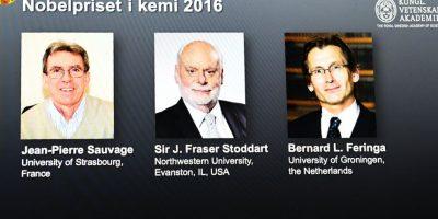 Jean Pierre Sauvage, J.Frasser Stoddart y Bernard Feringa, galardonados con el Nobel de Química 2016