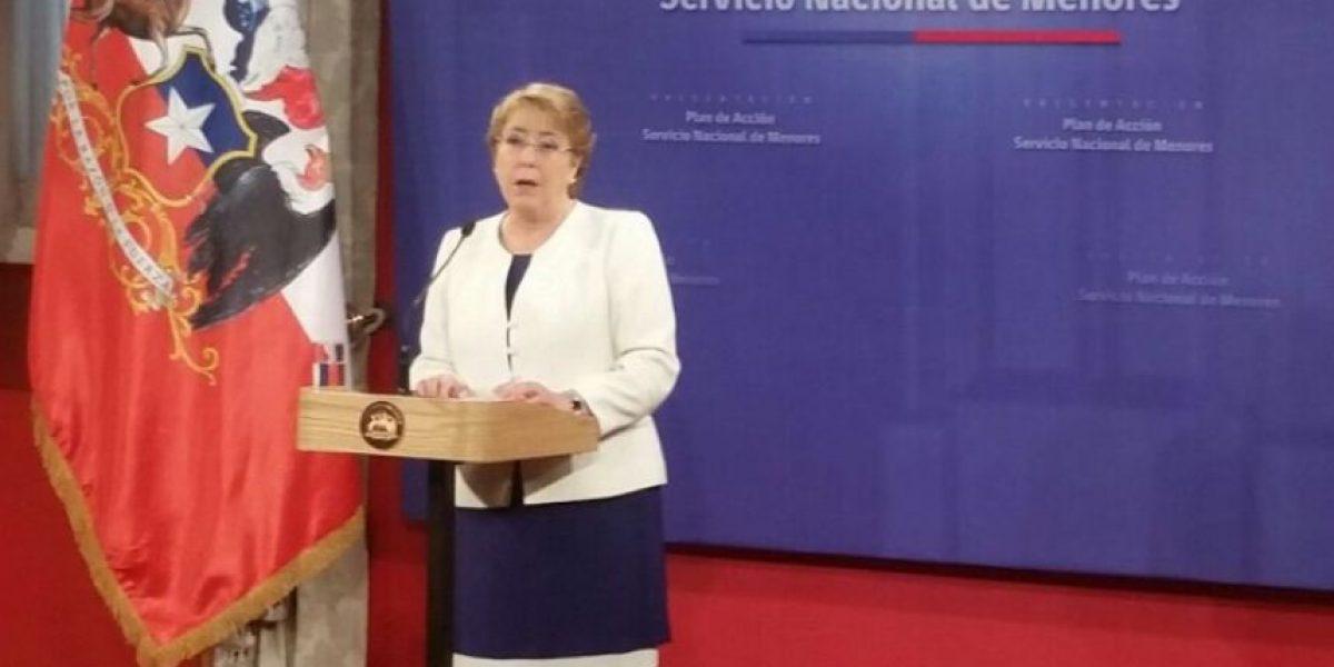 Bachelet anuncia $2.500 millones para mejorar condiciones de los centros del Sename