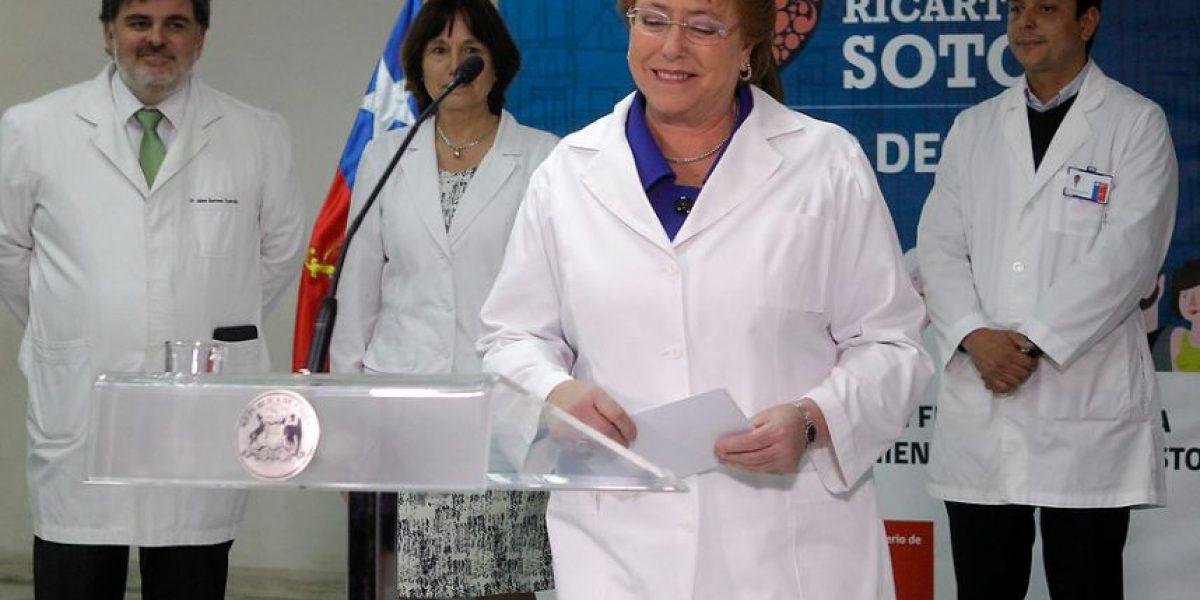 Bachelet anuncia tres nuevas patologías incluidas en