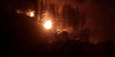 Onemi decretó alerta roja por incendio forestal en Valparaíso