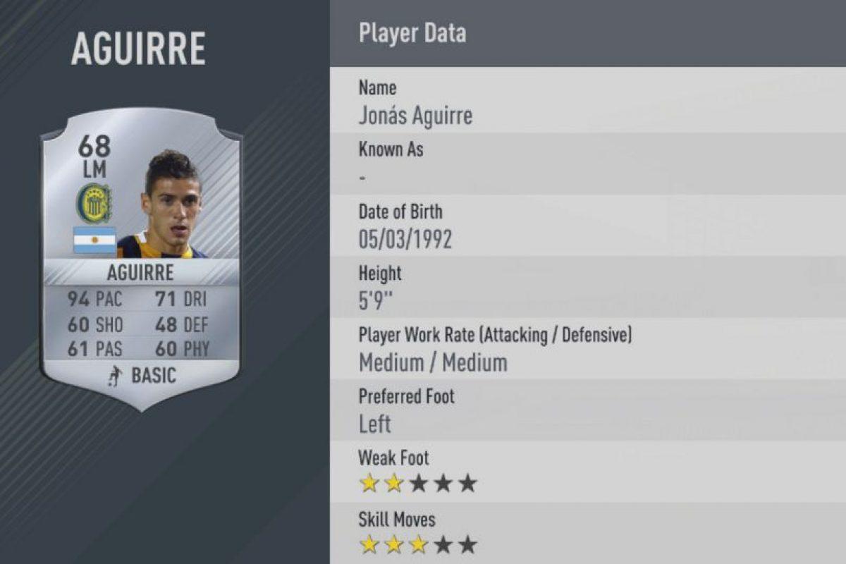 13.-Jonas Aguirre–Rosario Central (94) Foto:EA Sports. Imagen Por: