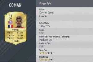 18.-Kingsley Coman–Bayern Munich (93) Foto:EA Sports. Imagen Por: