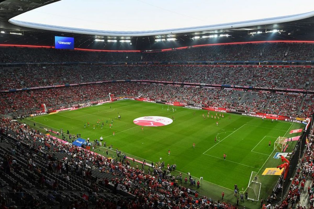 6.Bayern Munich – Allianz Arena (89.8 millones) Foto:Getty Images. Imagen Por: