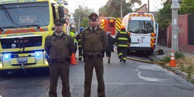 Incendio en hogar de ancianos deja dos personas fallecidas en La Cisterna