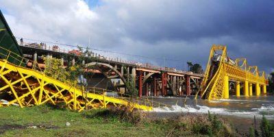 Onemi realizará trabajos en río Toltén tras colapso de puente