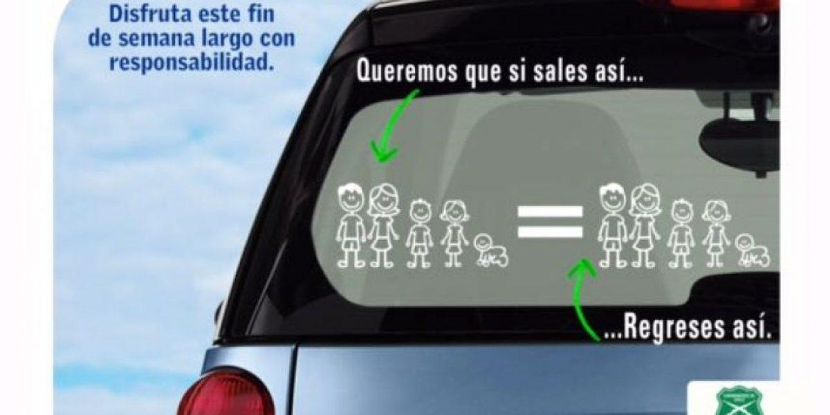 Carabineros realiza plan preventivo en carreteras por fin de semana largo