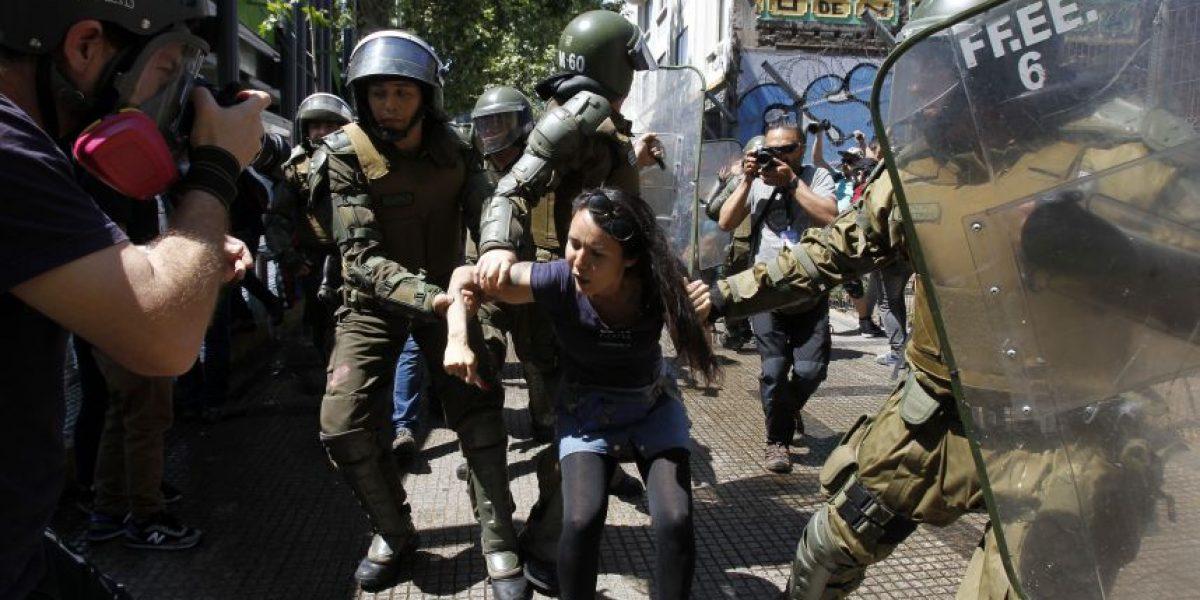 """Con 33 detenidos """"externos"""" terminó la """"Marcha por la resistencia mapuche"""