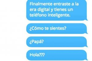 ¡Papás e hijos en WhatsApp! Foto:Facebook. Imagen Por: