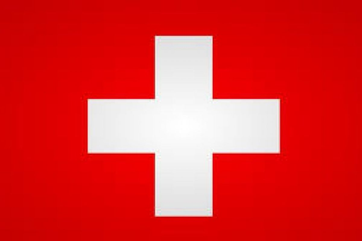 """Suiza: """"Un gran campo rojo , el color que es como un imán para la mirada, con una cruz geométrica , exacta en sus proporciones y en su contraste con el blanco y el rojo"""". Foto:Reproducción. Imagen Por:"""
