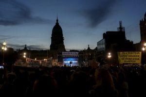 """La manifestación llevaba el nombre de """"Para que no te pase a ti"""" Foto:AP. Imagen Por:"""