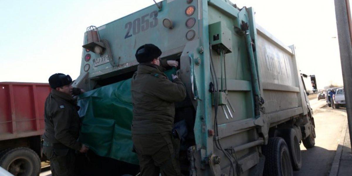 Hombre muere triturado por camión recolector de basura en Puerto Montt