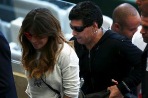 Giannina Maradona le pidió a su hijo Benjamín que no juegue fútbol Foto:Getty Images. Imagen Por: