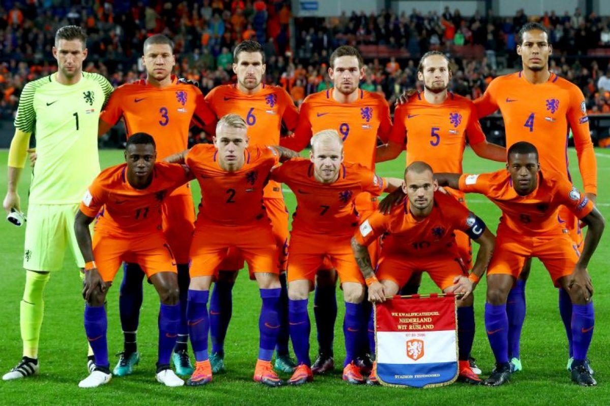 """Holanda. Es conocida como la """"Naranja Mecánica"""". Al igual que Italia toman el color de la casa Orange, que lideró los Paises Bajos en el Siglo XVI Foto:Getty Images. Imagen Por:"""
