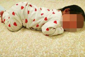 Los policías entregaron la niña, de unos 40 días de edad, a la Oficina de protección de menores y los padres fueron detenidos para ser interrogados. Foto:Reproducción. Imagen Por:
