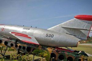 Modelo de misil balístico Sopka, desplegado por los soviéticos en Cuba en 1962. Foto:AFP. Imagen Por: