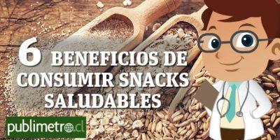 Infografía: 6 beneficios de consumir snacks saludables