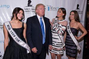 Trump invadía la privacidad de las reinas de belleza Foto:Getty Images. Imagen Por: