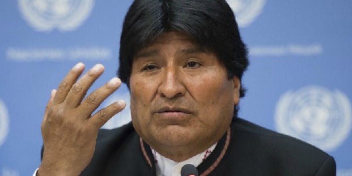 Morales insiste en que por no tener mar economía de Bolivia crece menos