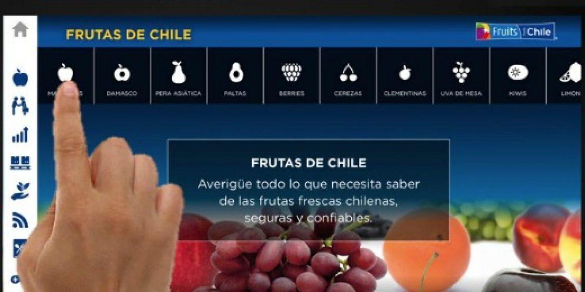 Aplicación de fruta chilena es premiada como la mejor por medio especializado