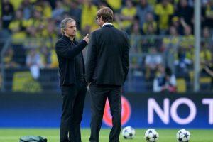 En 2013, Klopp y el Dortmund eliminaron en la semifinal de Champions League al Real Madrid de Mourinho. Foto:Getty Images. Imagen Por: