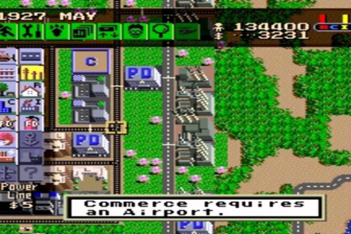 """El juego """"Sim City"""" te permitía construir y administrar una ciudad. Podías construir casas, áreas comerciales e industriales, cobrar impuestos, analizar tus índices de delincuencia y contaminación, entre otras funciones. Foto:Gentileza. Imagen Por:"""