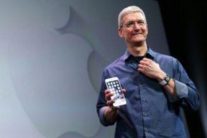 Tim Cook, CEO de Apple. Foto:AFP. Imagen Por: