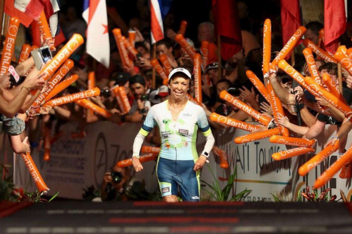 Turia Pitt, la exmodelo quemada que terminó el triatlón de Hawáil Foto:Getty Images. Imagen Por:
