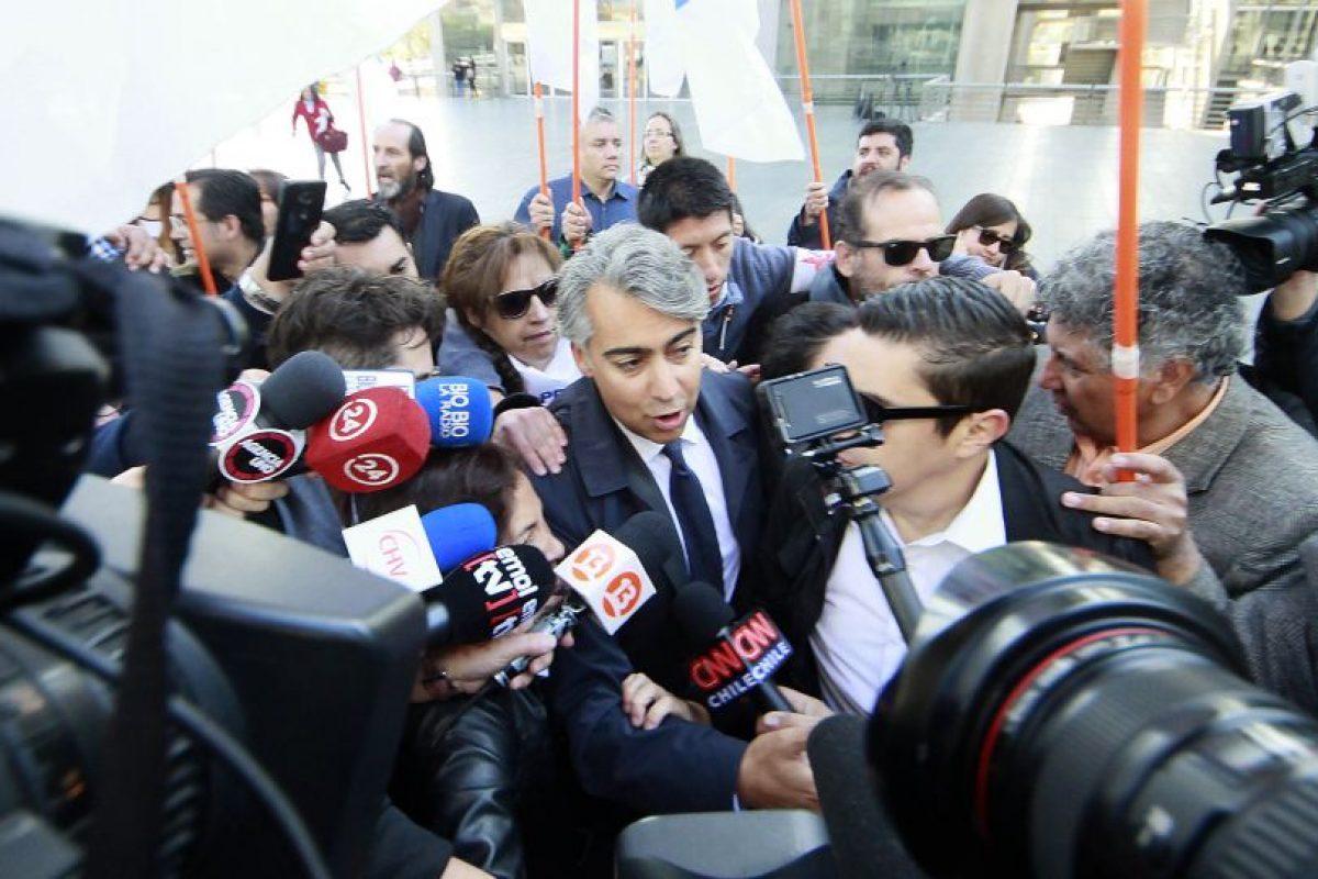 """Luego de la audiencia, dio una conferencia de prensa, donde se refirió al fiscal a cargo de la causa como """"el fiscal de la televisión"""". Foto:Agencia UNO. Imagen Por:"""