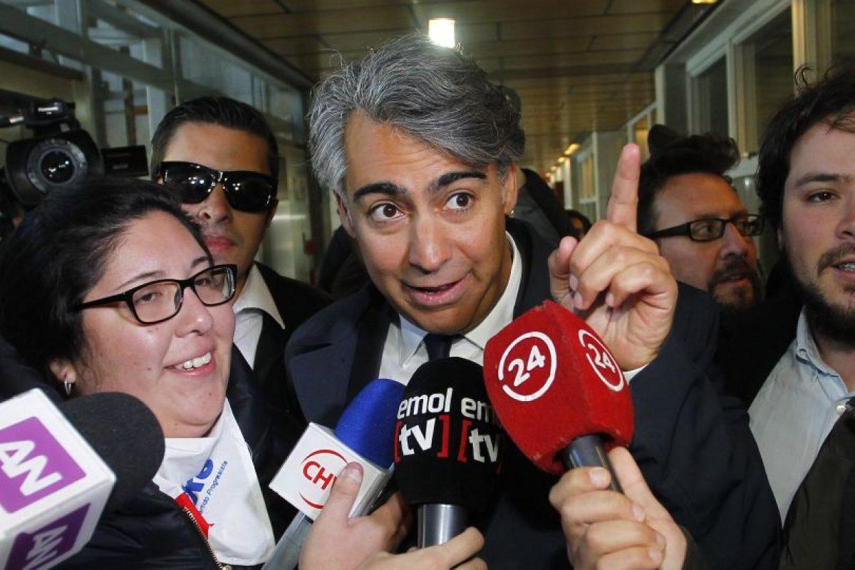 Hoy en la mañana, el ex candidato presidencial Marco Enríquez-Ominami asistió a la audiencia de formalización en su contra en el 8° Juzgado de Garantía de Santiago, por supuestos delitos tributarios en el caso SQM. Foto:Agencia UNO. Imagen Por: