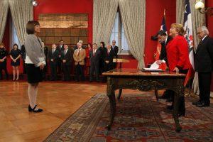 Nivia Palma, asume como nueva ministra de bienes nacionales. Foto:ATON. Imagen Por: