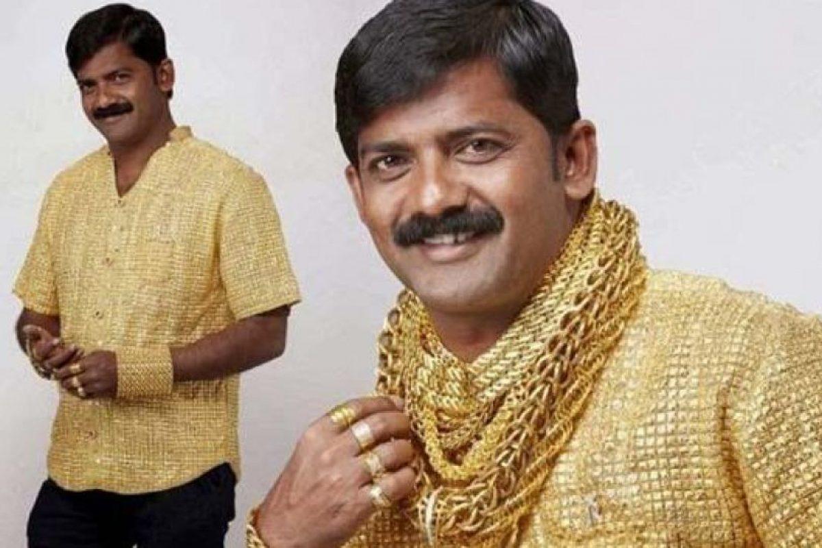 También pensando en vestir, se puede mandar a hacer una camisa con lingotes de oro con valor de 250.000 dólares (unos $167 millones) Foto:Reproducción. Imagen Por: