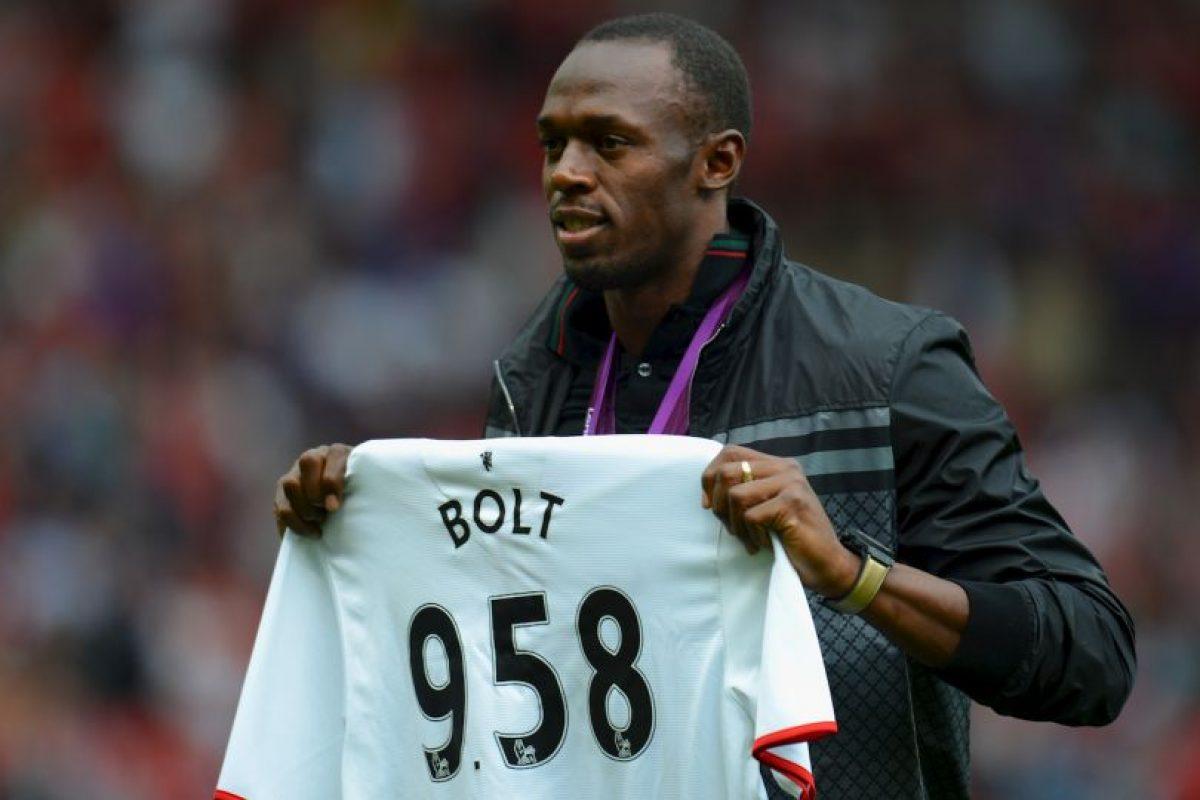 Usain Bolt (atleta jamaicano) – Manchester United. Imagen Por: