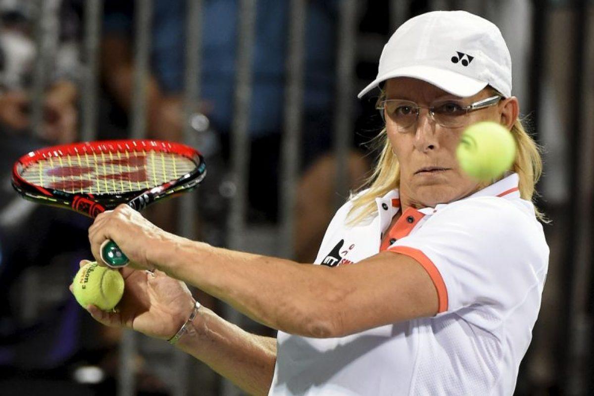Martina Navratilova (extenista estadounidense) Foto:Getty Images. Imagen Por: