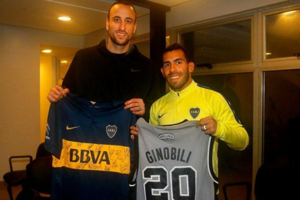 Emanuel Ginóbili (basquetbolista argentino) – Boca Juniors. Imagen Por: