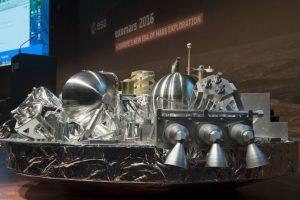 Este es el robot Schiaparelli, que desapareció en el suelo marciano. Se cree que se pudo haber destruído Foto:AFP. Imagen Por: