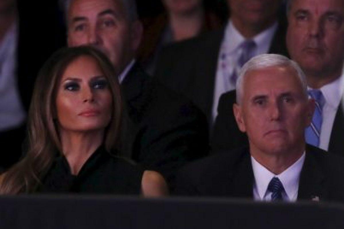 Estuvo Melania Trump, esposa de Donald Trump y Mike Pence; el compañero de fórmula de Trump. Foto:AFP. Imagen Por: