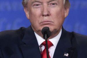 Donald Trump durante el tercer debate presidencial Foto:AFP. Imagen Por: