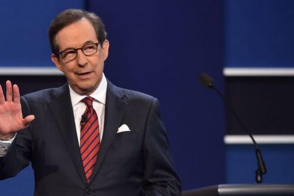 Chris Wallace, presentador de Fox News y moderador del último debate presidencial de EEUU. Foto:AFP. Imagen Por: